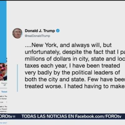 Trump cambia su residencia de Nueva York a Florida