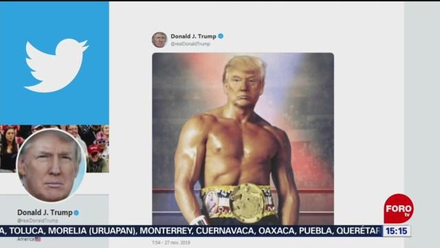 FOTO: Trump Se Photoshopea Cuerpo Rocky Balboa,