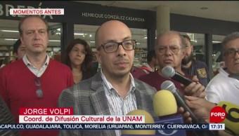 FOTO: UNAM condena actos vandálicos librería Rectoría Jorge Volpi,