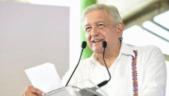 Foto: Amlo este domingo durante su diálogo con las comunidades mayas, 10 de noviembre de 2019, (Presidencia)