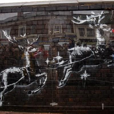 nuevo mural de Banksy por la Navidad