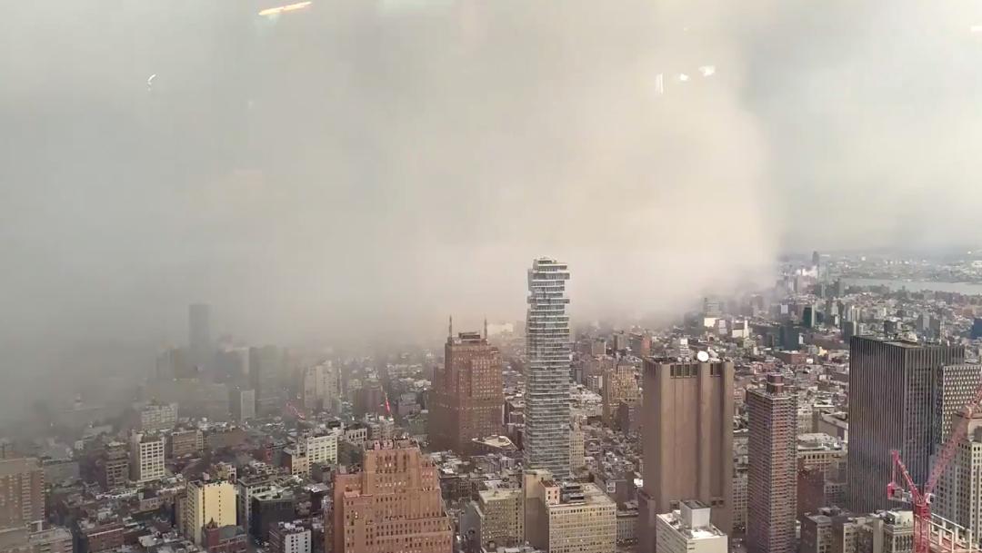 Impactante tormenta de nieve invade Manhattan