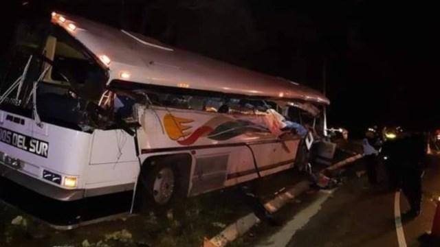 Foto: Un accidente de tráfico en el noreste de Guatemala, 21 diciembre 2019