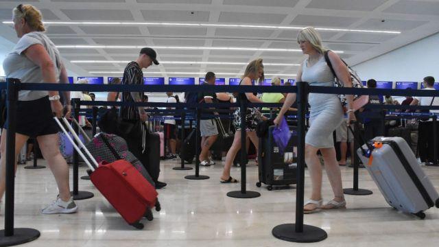 Aeropuerto de Cancún.