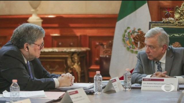 Foto: Amlo Buena Reunión Fiscal Estadoundiense William Barr 5 Diciembre 2019