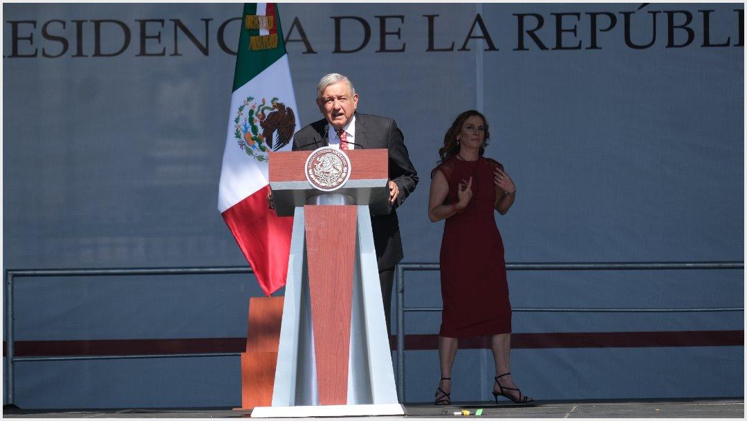 Foto: López Obrador dio un mensaje de cerca de 90 minutos en el Zócalo, 1 de diciembre de 2019 (GRACIELA LÓPEZ /CUARTOSCURO.COM)