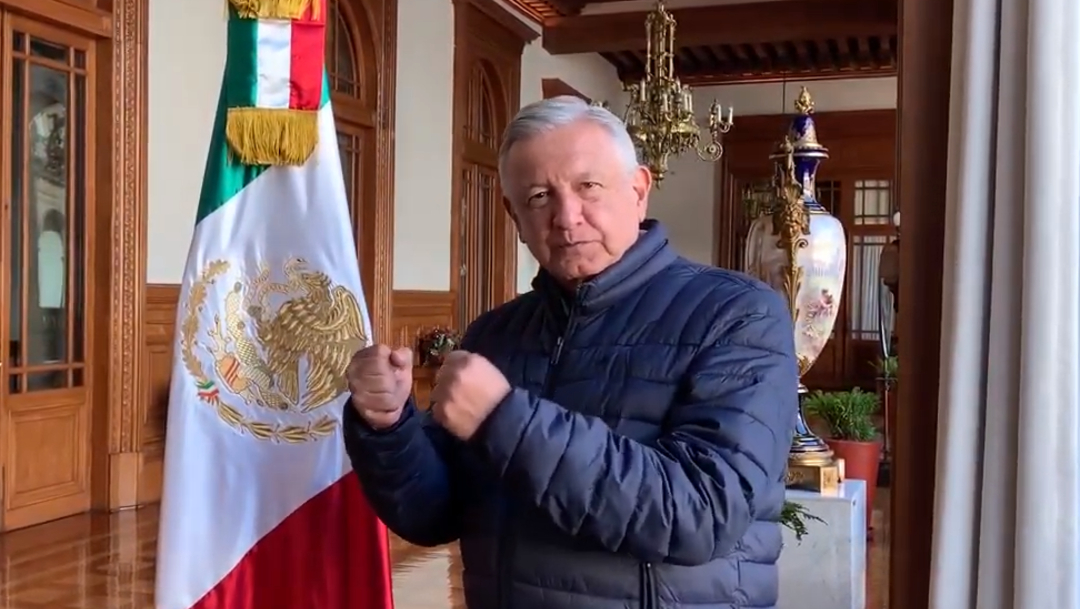 """FOTO AMLO desea """"lo mejor"""" a Andy Ruiz en pelea de Arabia Saudita (YouTube)"""
