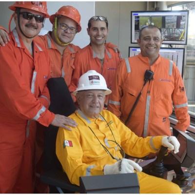 Foto: López Obrador supervisa los yacimientos petroleros en Tabasco, 7 de diciembre de 2019 (PRESIDENCIA / CUARTOSCURO.COM)
