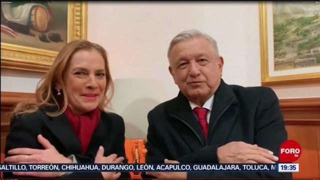 Foto: Amlo Beatriz Gutiérrez Muller Mensaje Navideño Mexicanos 24 Diciembre 2019