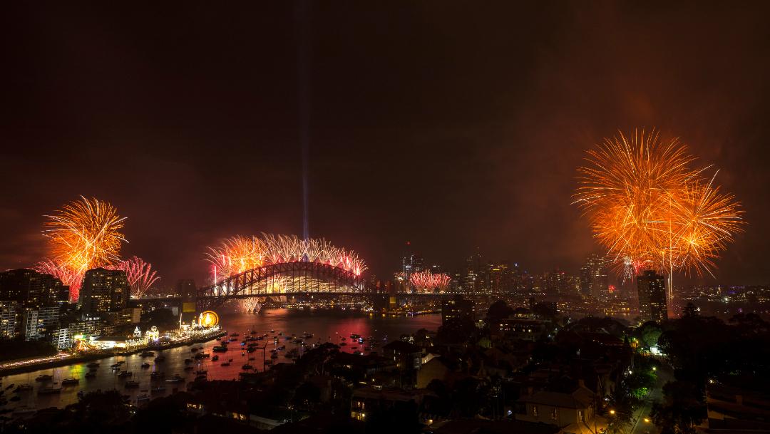 FOTO Fuegos artificiales en Siney, Australia (Getty Images)