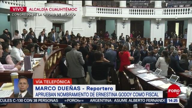 aprueban nombramiento de ernestina godoy como fiscal general de cdmx