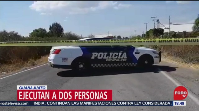 Foto: Asesinan Dos Custodios Guanajuato 27 Diciembre 2019