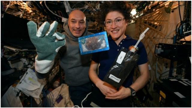 Imagen: Christina Koch se vuelve la mujer con más días en el espacio, 28 de diciembre de 2019 (Twitter)