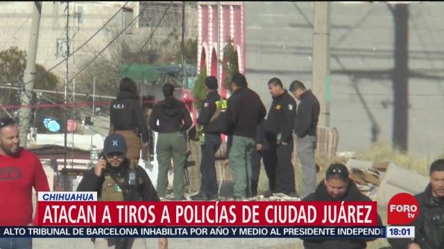 FOTO: atacan a tiros a policias de ciudad juarez chihuahua