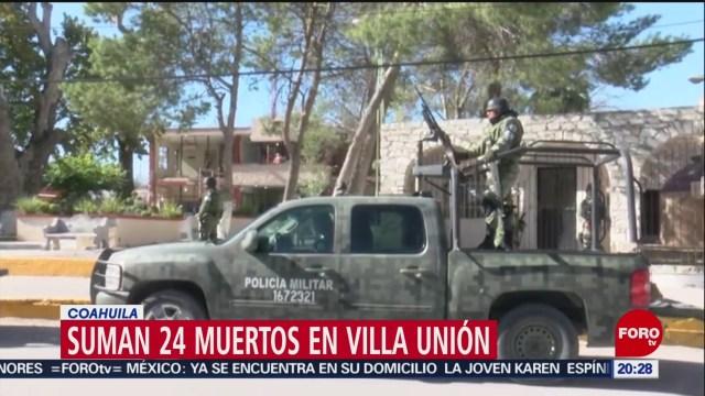 Foto: Aumenta 24 Número Muertos Enfrentamiento Villa Unión 4 Diciembre 2019
