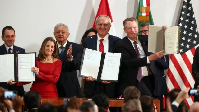 México, EE.UU. y Canadá firman el T-MEC con modificaciones de los demócratas