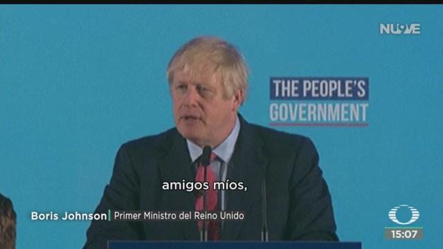 FOTO: Boris Johnson Con Poder Brexit Como Promesa