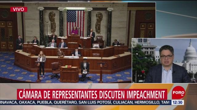 camara de representantes ee uu debate sobre impeachment contra trump