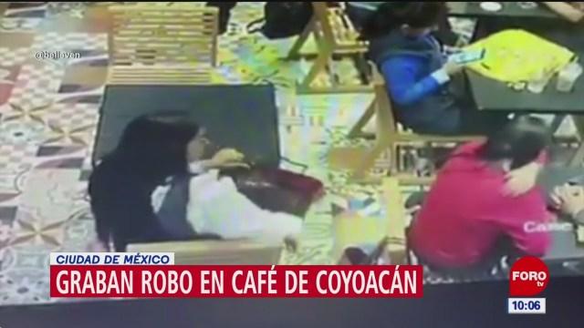 Foto: captan robo en cafe de coyoacan cdmx