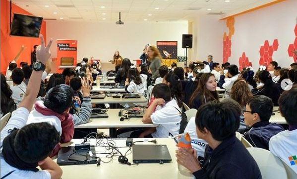 Foto: Cuantrix, de Fundación Televisa, realiza por tercer año consecutivo 'La Hora del Código', 4 de diciembre de 2019 (Fundación Televisa)