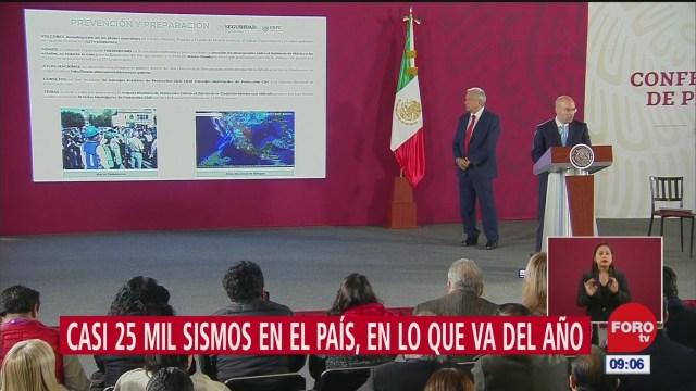 cerca de 25 mil sismos se han registrado en mexico en