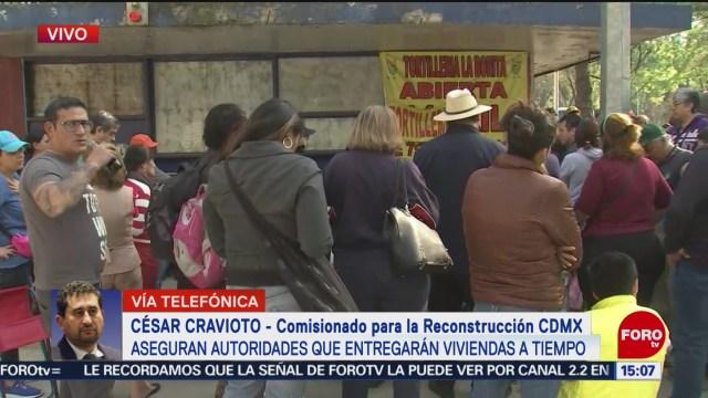 FOTO: César Cravioto da la postura de las autoridades tras bloqueo de damnificados en Tlalpan, 15 diciembre 2019