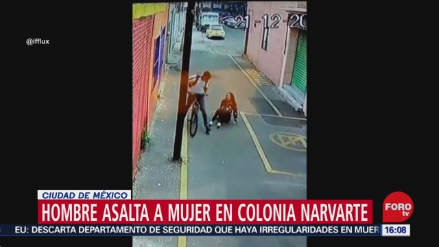 FOTO: 21 diciembre 2019, ciclista asalta a mujer en la narvarte