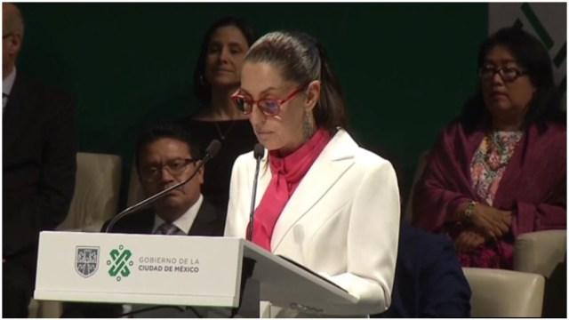 Foto: Claudia Sheinbaum rindió su Primer Informe como jefa de Gobierno de la CDMX, 7 de diciembre de 2019 (Foro TV)