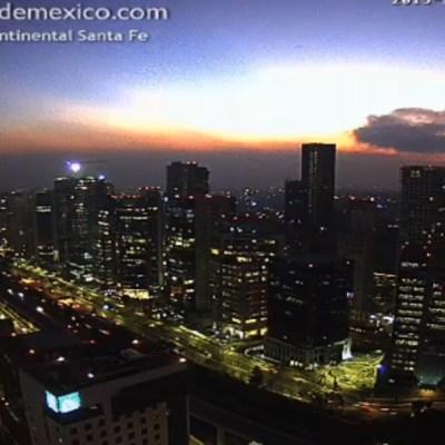 FOTO Valle de México registrará ambiente frío con heladas (Twitter @webcamsdemexico 11 diciembre 2019)
