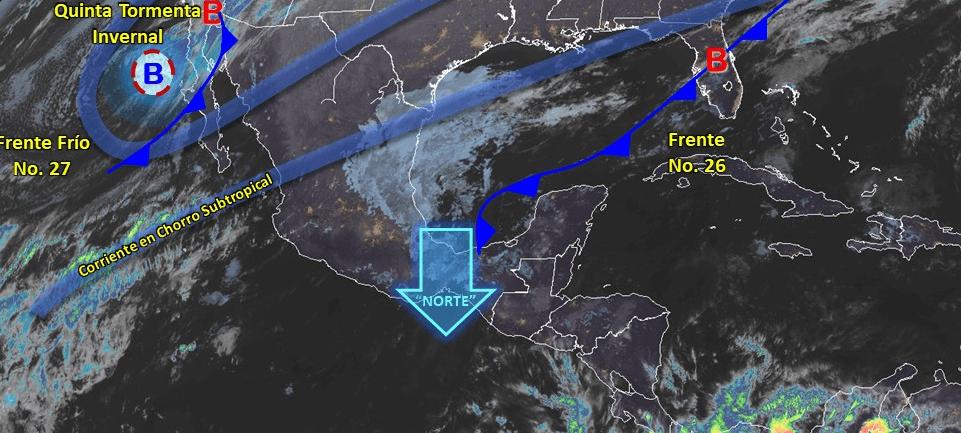 IMAGEN Frío intenso en norte de México por quinta tormenta invernal (Conagua)