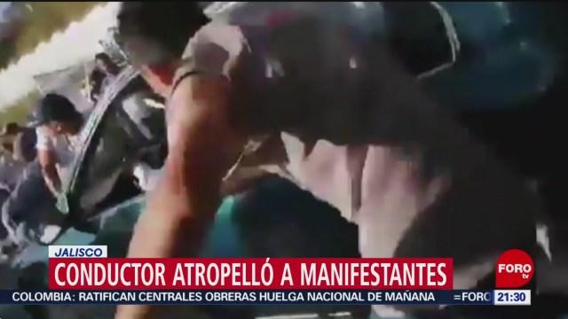 Foto: Conductor Arrolla Manifestantes Jalisco Video 3 Diciembre 2019