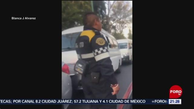 Foto: Conductores Golpean Policía Naucalpan 3 Diciembre 2019