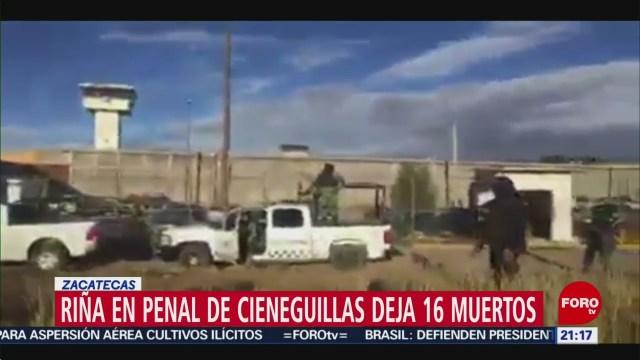 FOTO: 31 diciembre 2019, confirman 16 muertos por rina en penal de cieneguillas zacatecas