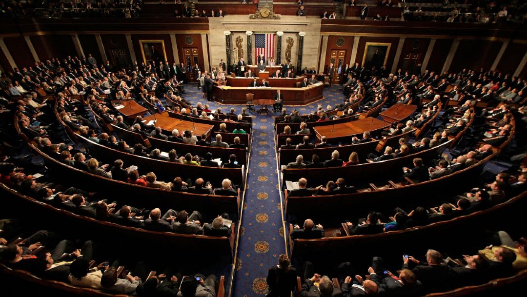 Foto: Sesión del Congreso de Estados Unidos, 8 enero 2018