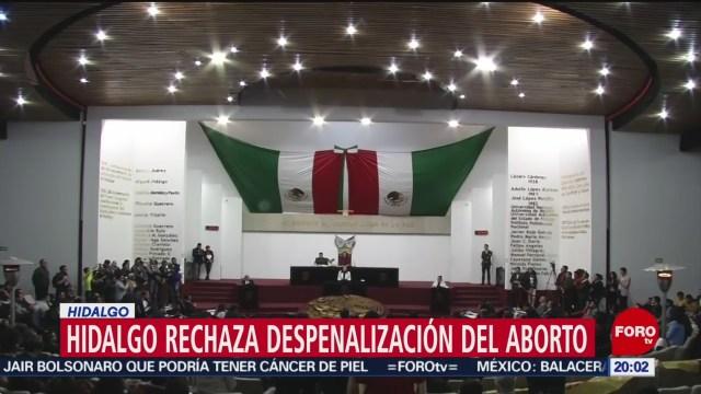 Foto: Congreso Hidalgo Rechaza Despenalizar Aborto 12 Diciembre 2019