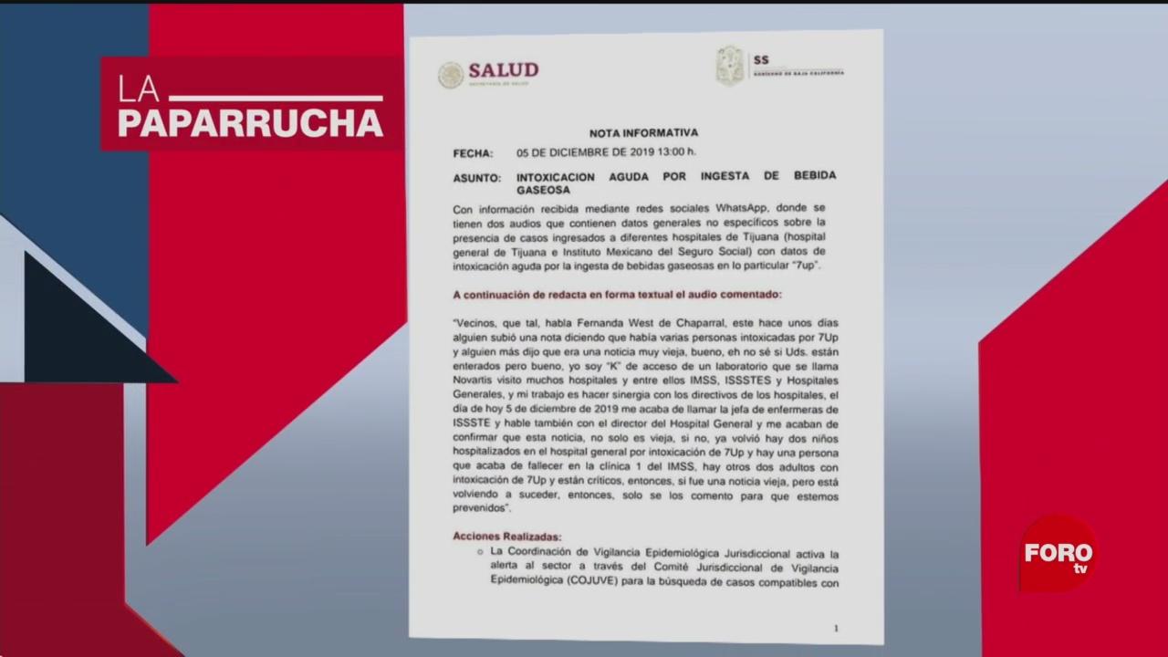 Foto: Refresco Cianuro Tijuana Consumo Noticias Falsas 9 Diciembre 2019