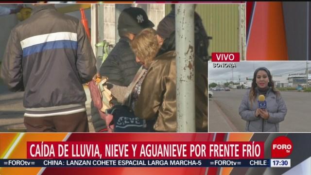 Foto: Frío Sonora Tormenta Invernal 27 Diciembre 2019