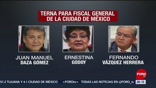 Foto: Terna Fiscalía Definen Cdmx 4 Diciembre 2019