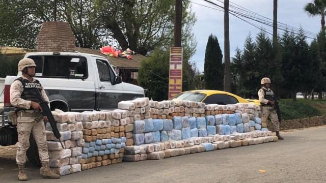 FOTO:Ejército Mexicano asegura más de una tonelada de droga en Baja California, el 23 de diciembre de 2019
