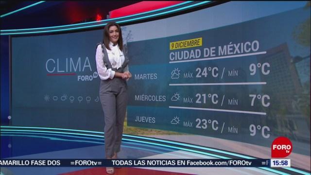 FOTO: Clima Con Daniela Álvarez 9 Diciembre 2019