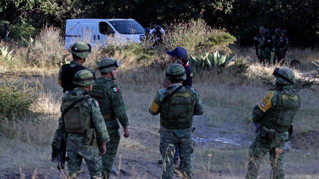 Elementos del Ejército en Puebla.