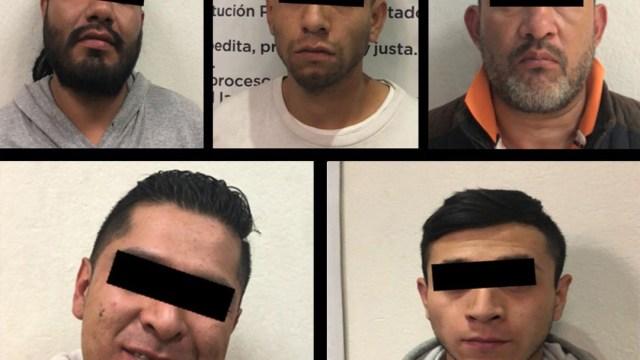 Detienen a cinco presuntos ladrones de centro comercial en Ciudad Satélite, 8 de diciembre de 2019 (SS Edomex)