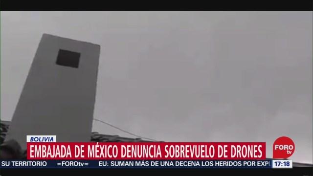 Foto: Embajada de México Bolivia Sobrevuelo Drones Hoy 28 Diciembre 2019