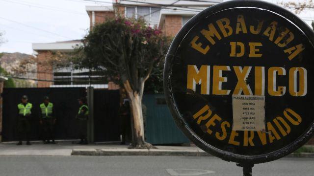 FOTO: Embajada de México en La Paz, Bolivia, el 30 de diciembre de 2019