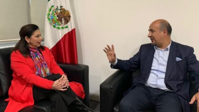 Foto: María Teresa Mercado mantuvo un encuentro con el subsecretario Maximiliano Reyes Zúñiga, el 31 de diciembre de 2019 (@SRE_mx)