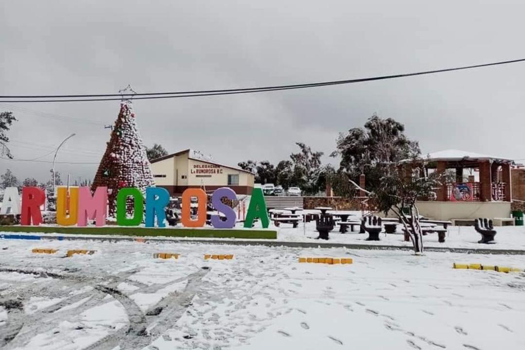 Foto: La Rumorosa, 26 de diciembre de 2019, (Twitter @nanameli20001)