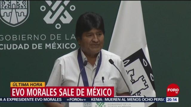 Foto: Evo Morales Sale México Rumbo Cuba 6 Diciembre 2019