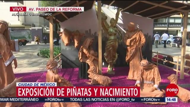 FOTO: Exhiben Piñatas Nacimientos Reforma