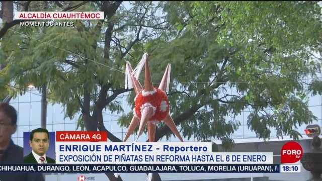 FOTO: Exposición de piñatas en Paseo de la Reforma, 15 diciembre 2019