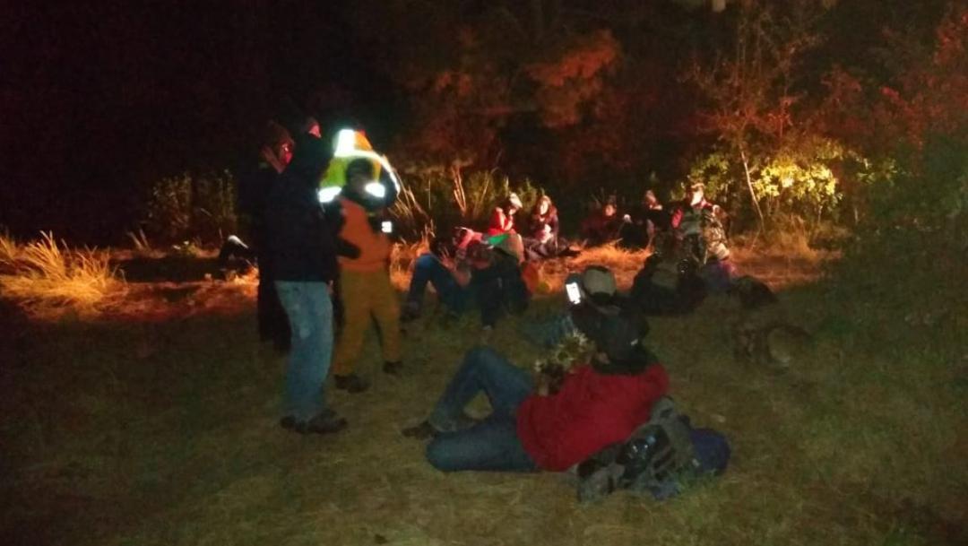 Foto: Policías de Montaña localizaron a las 22 personas extraviadas en el parque 'La Malinche', 12 diciembre 2019